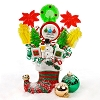 Sweetest Little Elf Boot Christmas Candy Bouquet