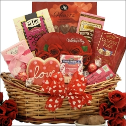 Sweet Valentine Chocolate Gift Basket
