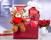 Sweet Valentine Teddy Bear Gift Basket