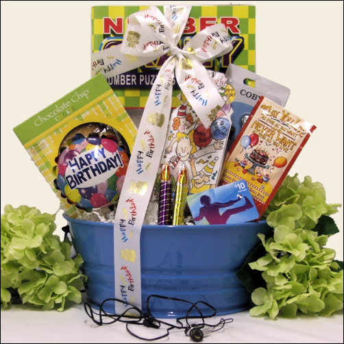 Birthday iTunes  Kids Fun: Boy Happy Birthday Gift Basket Ages 9 - 12