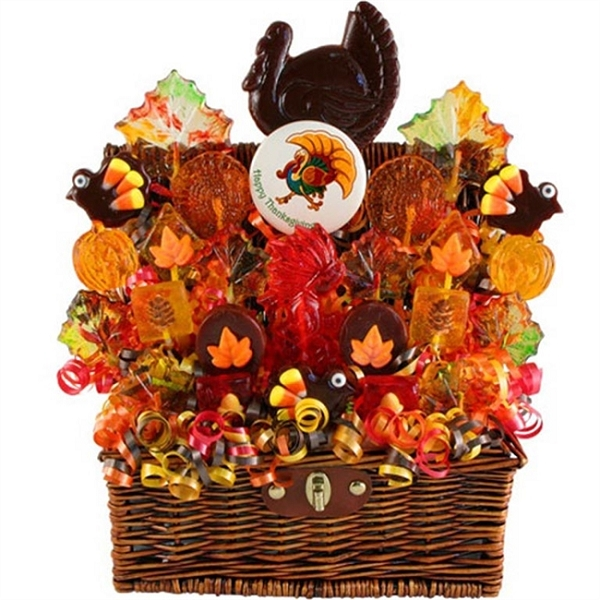 Thanksgiving Holiday Turkey Gift Basket