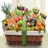 Tropical Paradise Nuts, Fruit and Cheese Basket