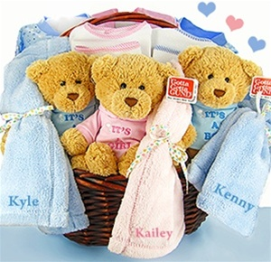 Bears Times:Triplets and Quadruplets Gift Basket