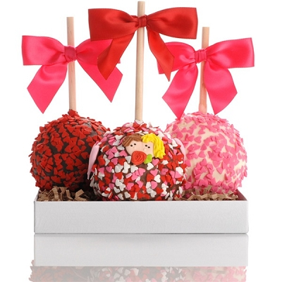 Valentine Caramel & Chocolate Apple Trio Gift