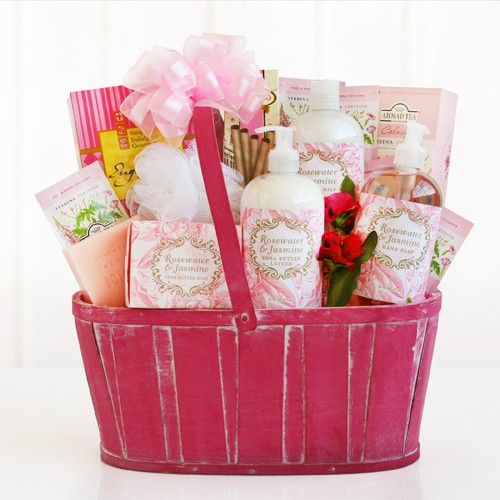 Valentine Spa Gift Basket for Women