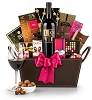 Valentine's Chocolate & Wine Basket