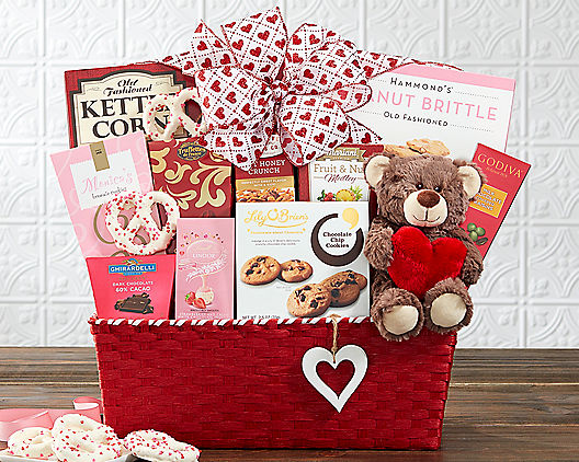 Valentine Wishes: Valentine's Day Gift Basket