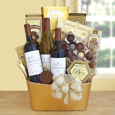 Vineyard Fancy Wine Gift Basket