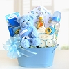 Welcome Greetings For Baby Boy Basket