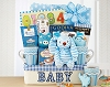 Welcome To The World Baby Boy Gift Basket