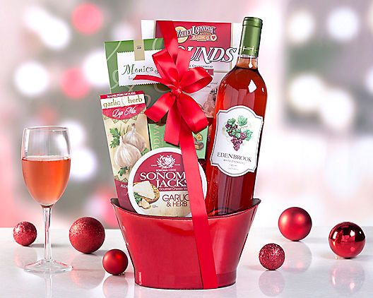 Vineyards White Zinfandel Wine Gift Basket