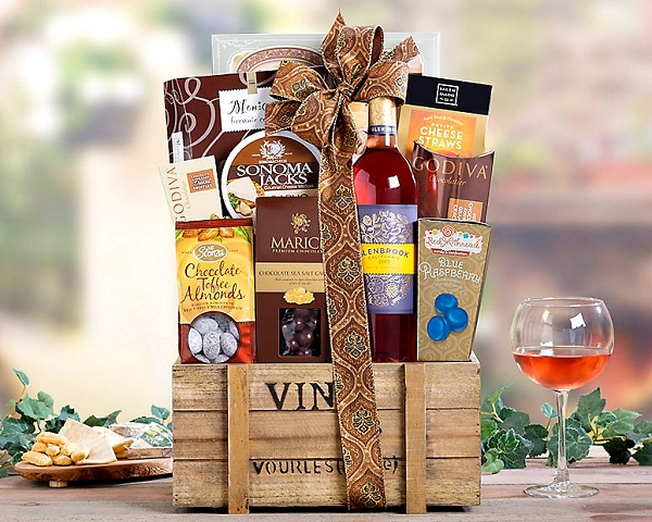 White Zinfandel Collection Wine Gift Basket