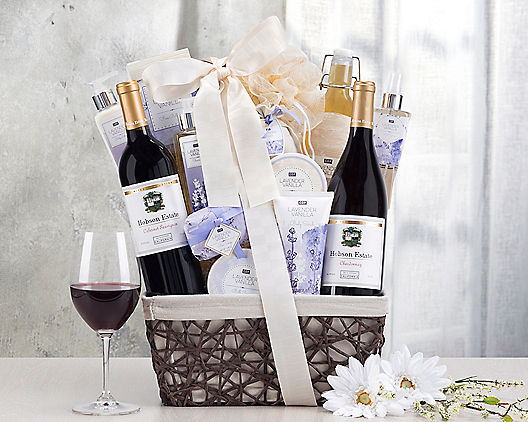 Wine and Spa Gift Basket Collection