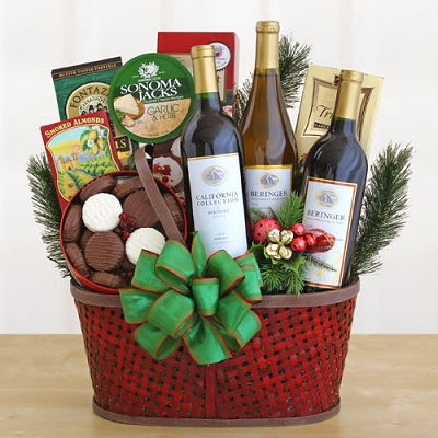 Wine Country Celebration Gift Basket
