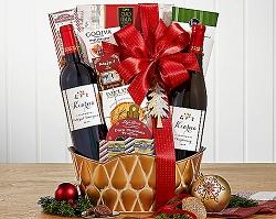 Wine Duet Holiday Collection Gift Basket