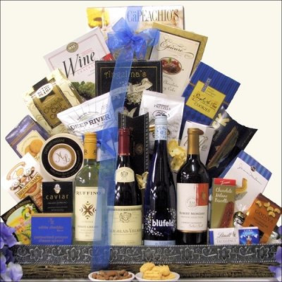 Wines of the World Collection: Wine Gift Basket