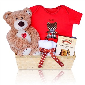 Adorable Bear Hugs Baby Gift Basket