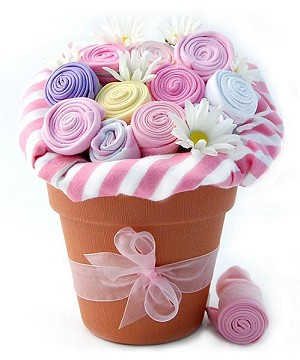 Baby Blooms Baby Clothes Bouquet Baby Gift- Girl