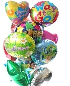 Balloon Bouquet - 12 Themed Mylar Balloons