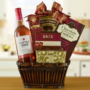 California Classic: Zinfandel Wine & Chocolate Gift Basket