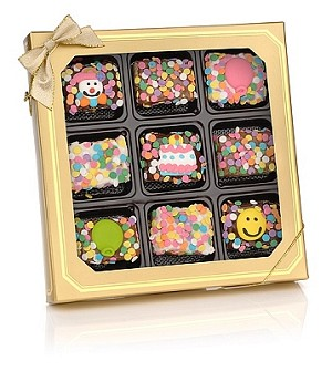 Birthday Chocolate Dipped Krispies® Gift Box of 9