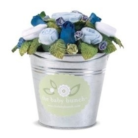 Blue Baby Bunch Bouquet Bucket
