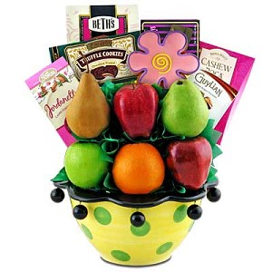 Bountiful Edible Fruit Gift Basket