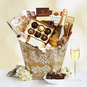 Chandon Sparkling Wine and Sweets Gift Basket