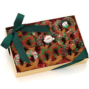 Christmas Gourmet Chocolate Pretzels Gift