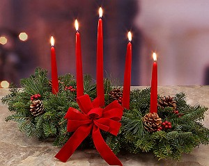 Christmas 5 Candle Centerpiece