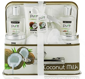 Tropical Coconut Milk Spa Gift Basket