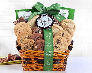 Coffee & Baked Sweets Thank You Gift Basket