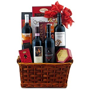Continental Red Wine Quartet Gift Basket