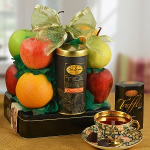 Cookies Delight & Fresh Fruit Gift