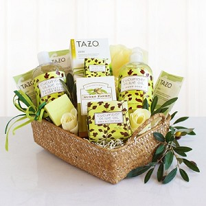 Exquisite Cucumber Spa Gift Basket