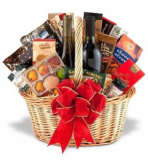 Deluxe Premium Gourmet and Wine Basket