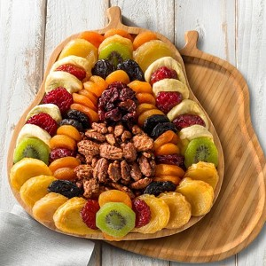 Deluxe Dried Fruit & Butter Toffee Pecans Bamboo Cutting Board