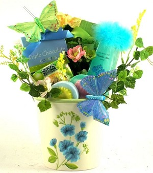 Flowers In Bloom: Gourmet Gift Basket
