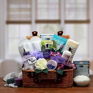 Fragrant Fields Of Lavender Spa Gift Basket
