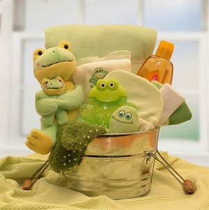 My Froggy Friends: New Baby Gift Basket