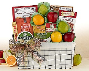 Gourmet and Harvest Fresh Fruit Gift Basket