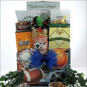 Gourmet Sports & Snack Gift Basket