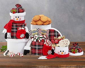 Holiday Magic Snowman Gift Tower