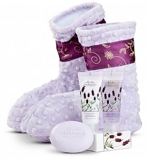 Lavender Spa Booties: Relaxation Spa Gift Set