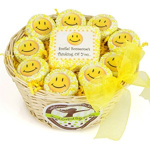 Lots O' Smiles Chocolate Oreos Basket