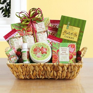 Olive Oil and Passion Flower Spa Gift Basket