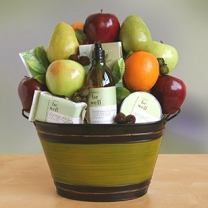Organic Fruit & Spa Collection Gift Basket