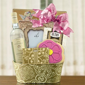 Special Someone White Wine Gift Basket