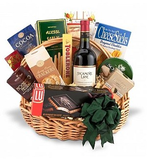 The Traditional Gourmet & Wine Gift Basket
