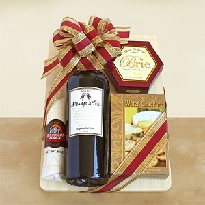 Toast The Good Life: Wine And Cheese Gift